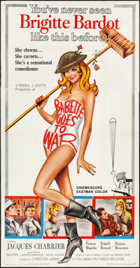 "Babette Goes to War (Columbia, 1960). Three Sheet (41"" X 79""). Foreign"