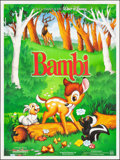 "Movie Posters:Animation, Bambi (Gaumont Buena Vista International, R-1993). French Grande (46.5"" X 62""). Animation.. ..."