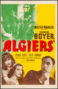 """Movie Posters:Adventure, Algiers (United Artists, 1938). Trimmed One Sheet (26.75"""" X 40.75""""). Adventure.. ..."""