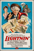 """Movie Posters:Comedy, Lightnin' (Fox, 1925). One Sheet (27"""" X 41""""). Comedy. From theCollection of Frank Buxton, of which the sale's proceeds wi..."""