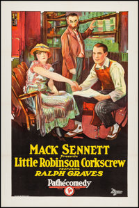 "Little Robinson Corkscrew (Pathe Exchange, 1924). One Sheet (27"" X 41""). Comedy. From the Collection of Frank..."