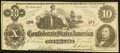 Confederate Notes:1862 Issues, T46 $10 1862 PF-2 Cr. 343 Very Fine.. ...