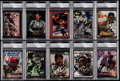 Autographs:Sports Cards, 1990's Dale Earnhardt Signed Card Collection (10) - PSA/DNAEncapsulated. ...