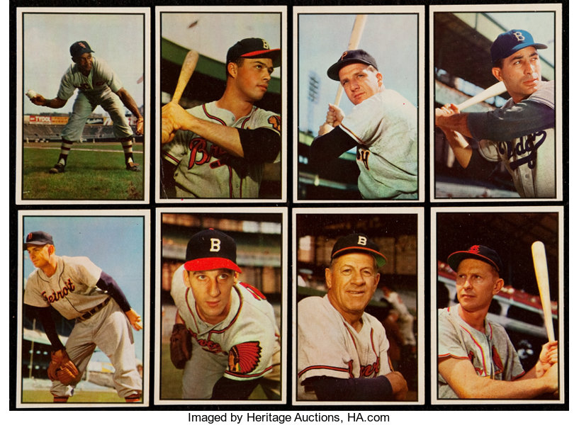 1953 Bowman Color Collection 20 Baseball Cards Lots Lot