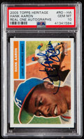 Baseball Cards:Singles (1970-Now), 2005 Topps Heritage Hank Aaron Real One Autographs #RO-HA PSA Gem Mint 10....
