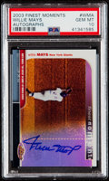 "Baseball Cards:Singles (1970-Now), 2003 Finest Willie Mays ""Finest Moments"" Autograph #FMA-WMA PSA Gem Mint 10...."