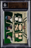 Baseball Cards:Singles (1970-Now), 2008 Topps Triple Threads Ty Cobb/Babe Ruth/Honus Wagner Relic Combos (Emerald) #102 BGS Gem Mint 9.5 - Serial Numbered #3/10....