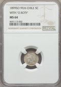 Chile, Chile: Republic 5 Centavos 1899-So MS64 NGC,...