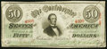 Confederate Notes:1863 Issues, T57 $50 1863 PF-3 Cr. 408 Very Fine.. ...