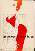 "Movie Posters:Foreign, La Parisienne (CWF, 1958). Polish One Sheet (23"" X 33.5"") Waldemar Swierzy Artwork. Foreign.. ..."