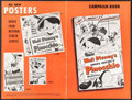 "Movie Posters:Animation, Pinocchio (RKO, R-1953). Uncut Pressbook (20 Pages, 12"" X 18"").Animation.. ..."