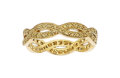 Estate Jewelry:Rings, Colored Diamond, Gold Eternity Band. ...