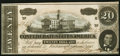 Confederate Notes:1864 Issues, T67 $20 1864 PF-27 Cr. 527 Crisp Uncirculated.. ...