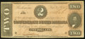 Confederate Notes:1864 Issues, T70 $2 1864 PF-7 Cr. 568A Extremely Fine-About Uncirculated.. ...