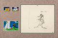 Animation Art:Production Drawing, Robin Hood Daffy Layout Drawing Original Art by Chuck Jones(Warner Brothers, 1958)....
