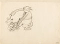 Animation Art:Production Drawing, The Barn Dance Minnie Mouse and Pete Animation DrawingOriginal Art (Walt Disney, 1929)....