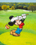 Animation Art:Production Drawing, Mickey Mouse at the 18th Hole Painting by Paul Wenzel (WaltDisney, c. 1990s-2000s)....