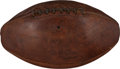 Football Collectibles:Balls, 1934 Joe Carr Game Used Football Attributed to NFL Championship Game - The Sneakers Game. ...