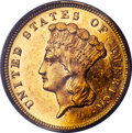 Three Dollar Gold Pieces, 1879 $3 MS63 PCGS. CAC....