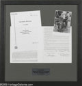 Music Memorabilia:Autographs and Signed Items, Ira Gershwin Signed and Framed Contract. A 1976-85 American Societyof Composers, Authors, and Publishers contract signed an...