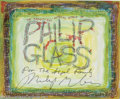 Music Memorabilia:Autographs and Signed Items, Philip Glass Signed Fan Art. A paint-on-illustration-board paintingby Dallas artist Marvin Sigel, signed by postmodern comp...