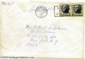 Music Memorabilia:Ephemera, Janis Joplin Envelope Addressed and Sent to Peter De Blanc; Signedin Full On Back....