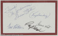 Music Memorabilia:Autographs and Signed Items, Jordanaires Signed Card with Photograph. One of the premier back-upvocal groups in country music, working with such greats ...