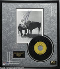 """Music Memorabilia:Autographs and Signed Items, Jerry Lee Lewis Signed Photo with 45 RPM Record """"Whole Lot ofShakin' Going On"""" (Sun Records). This lot contains a 45 of pia..."""
