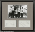 Music Memorabilia:Autographs and Signed Items, Frankie Lymon & the Teenagers Autographs. Centered around a13-year-old lead singer, the doo wop group Frankie Lymon & theT...