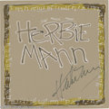 Music Memorabilia:Autographs and Signed Items, Herbie Mann Signed Fan Art. A paint-on-illustration-board paintingby Dallas artist Marvin Sigel, signed by the late jazz fl...