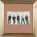 Music Memorabilia:Miscellaneous, Manfred Mann Signed Photograph. One of the most adept British Invasion acts of the '60s, Manfred Mann's range encompassed ja...