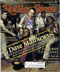 Music Memorabilia:Autographs and Signed Items, Dave Matthews Signed Cover. A copy of the March 15, 2001, issue ofRolling Stone with the Dave Matthews Band on the cove...