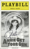 "Music Memorabilia:Autographs and Signed Items, Reba McEntire Signed Playbill. A copy of Playbill from the 2001production of Irving Berlin's ""Annie Get Your Gun,"" sign..."