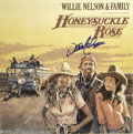 "Music Memorabilia:Autographs and Signed Items, Willie Nelson & Family Signed ""Honeysuckle Rose"" LP Columbia36752 Stereo (1980), plus Other Signed Country Recordings. This...(6 )"
