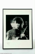 Music Memorabilia:Autographs and Signed Items, Jimmy Page Rare Signed Lithograph....
