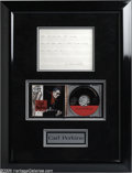 Music Memorabilia:Autographs and Signed Items, Carl Perkins Framed Lyrics. Fans of singer-songwriter androckabilly legend Carl Perkins will want to take a look at thispa...