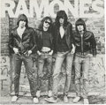 Music Memorabilia:Autographs and Signed Items, Ramones Signed LP Cover. A copy of their 1976 self-titled debutalbum, signed by Joey, Johnny, Dee Dee, and Marky, who didn'...