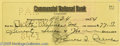 Music Memorabilia:Autographs and Signed Items, Jim Reeves Signed Check. Signed by Reeves, dated April 24, 1954,and made payable to Delta Airlines for $77.17. In excellent...