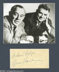 "Music Memorabilia:Autographs and Signed Items, Rodgers and Hammerstein Signatures with Photograph. Signatures fromthe writing team behind such popular musicals as ""South ..."