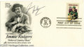 Music Memorabilia:Autographs and Signed Items, Jimmie F. Rodgers Signed First Day Cover. Dated May 24, 1978,bearing a stamp and portrait in honor of prototypical '20s cou...
