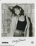 Music Memorabilia:Autographs and Signed Items, Carly Simon Signed Photograph and Other Female Music Stars'Signatures. Featured in this lot is a signed black-and-white pho...(6 Items)