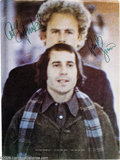 """Music Memorabilia:Autographs and Signed Items, Simon and Garfunkel Signed Ad. 1970 full-page color promo ad for""""Bridge Over Troubled Water"""" from Billboard magazine si..."""