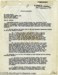 Music Memorabilia:Autographs and Signed Items, Early Frank Sinatra Signed Contract Supplement. A typed duplicatesupplement to ol' Blue Eyes' contract with Capitol Records...