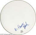 """Music Memorabilia:Autographs and Signed Items, Ralph Stanley Signed Banjo Head. Signed """"Dr. Ralph Stanley"""" in bluemarker by the musician who helped bring the mountain sty..."""