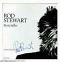 "Music Memorabilia:Autographs and Signed Items, Rod Stewart Signed ""Storyteller"" Box Set (1990). Impressive four-CDbox set titled ""Storyteller,"" featuring a complete antho..."