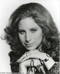 "Music Memorabilia:Autographs and Signed Items, Barbra Streisand Signed Photograph. A cabaret singer and recordingartist who burst onto Broadway in 1962's ""I Can Get It fo..."