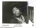 "Music Memorabilia:Autographs and Signed Items, Sarah Vaughan Signed Photograph. An 8"" x 10"" black-and-white photoof the acclaimed jazz singer in a production of the music..."