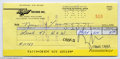 Music Memorabilia:Autographs and Signed Items, Frank Zappa Signed Check. A signed check from equal-partscontroversial and influential rock icon Frank Zappa, datedFebruar...