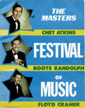 "Music Memorabilia:Ephemera, ""The Masters Festival of Music"" Program. A program from the 1971 concert series featuring ""Mr. Guitar"" Chet Atkins, ""Mr. Pia..."