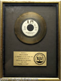 "Music Memorabilia:Awards, Eric Pleskow ""Gonna Fly Now"" RIAA Gold Record Award (1977). Alittle something that will appeal to music and movie buffs ali..."